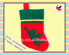 High quality Non-woven red christmas sock with a angel