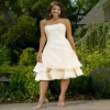 2011 New Gentlewoman Strapless A-Line Backless Taffeta Knee-Length Fairy Bridesmaid Dresses