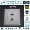 HS-P301B, HDMI+RCA Plate,HDMI plate,hdmi 1.3,hdmi wall plate