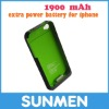 1900mAh Portable Emergency Battery Charger for iPhone 4g/4gs