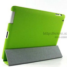 PU leather smart stand cover case for iPad2