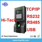 fingerprint access control system machine with RS232/485&TCP/IP&USB-host communication port Optional rfid card reader