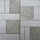 Natural white and grey marble stone wall tile in mosaic pattern