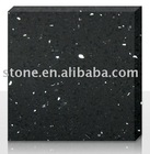 Black Quartz Stone (Quartz Solid Surface, Engineered Quartz Stone)