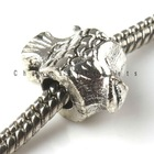 2012New Wholesale and creative Charms Alloy Antique Silver fish Beads Fit jewelry making for bracelets or necklace 8A045