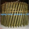 YELLOW THREADED WIRE COIL NAILS (AN PING WIREMESH )