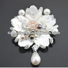 Free shipping!!!!Quality goods imported luxury brooch high-grade pearl pectoral flower