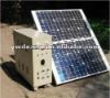 Small mini portable solar energy generator for home use