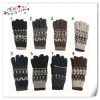 Jacquard wholesale winter knitted gloves