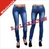 2012 Fashion Wholesale Jeans Manufactuer Tops And Ladies Jeans Wear Cheap Skinny Sexy Jeans(JFK027)