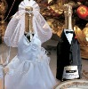 Bride & Groom Champagne Bottle Wraps/Wedding Decoration/Wedding Accessories-Champagne Glass Wear,bride/groom