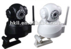 P/T WIFI network wireless IP camera, IE browser, two way audio, IR