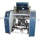 Auto stretching cling film rewinding machine