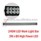 LED Work Light / LED Light For Mine / Off-Road Light / ATV 240W 3Wx80LED