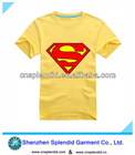 Plain yellow printing combed cotton fashion mens distressed t shirts