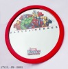round framed wall mirror with logo for promotion