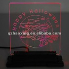 HX Logo Customized Lighting Acrylic Talbe Sign