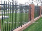metal picket fence