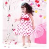 fashionable 100% cotton printed red baby girl frock