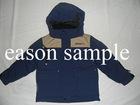 Blue warm ski jacket for boy