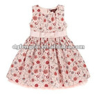 popular beautiful flower cotton print of girls dress apparel