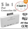 5 in 1 Camera Connection Kit for IPad or IPad 2 or IPAD 3 + AV USB SD Card Reader- with AV Cable wholesale