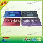 red color stainless steel card
