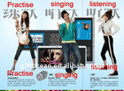 portable integrated KTV with MP3 & MPV & Karaoke & clock