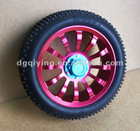 1/8 aluminum rc car rubber wheels for trolley