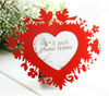 Heart-shaped picture frame