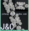 2012 white jeans fancy plastic strass stone cup chain