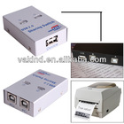 USB 1.1/2.0 High Speed Sharing Switch 2 Port for PC Printer Sharing Device Mini New