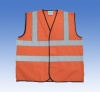 fluorescent orange reflective vest