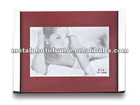 Aluminum Photo Frame with MDF and Black Velvet Back and Stand