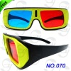 Double colors plastic 3D glasses wholesale