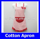 Fashion Wholesale Cheap Red Dot Canvas Woman Kitchen Apron Free Size Yiwu Factory