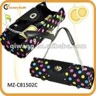 gift idea-fashion wine purse made of fabric and PU leather trim