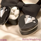 Bride and Groom themed Tuxedo Mint Tin WJ046 Wedding Decoration, event Gift, party Souvenir@Shanghai Beter Gifts Co Ltd