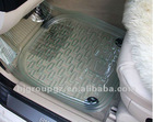 PVC TRANSPARENT CAR FLOOR MAT,CARPET ,5 PCS SET