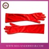 Sexy Fashion Lady Glove Red Opera Long Satin Gloves