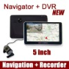 GPS Navigator + DVR car black box recorder 720P