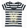 Cotton T-shirt/women T-shirt, black strips.