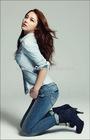 women's 98% cotton 2% denim jeans pants vintage washed