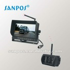 Wireless 7 inch HD monitor with camera for bus