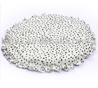 White jacquard cushion