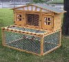 Large Wooden Rabbit House With Run