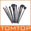 12 PCS Makeup Brush Set + Black Pouch Bag,