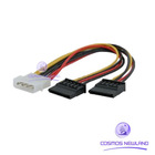 IDE SATA Serial ATA Y Splitter Power Cable Connector $