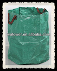 Foldable garbage bag with lid
