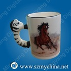 11OZ animal shaped blank sublimation coated mug